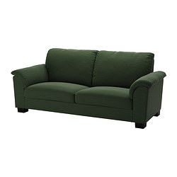 "TIDAFORS sofa, Hensta green Width: 90 1/2 "" Depth: 37 3/8 "" Height under furniture: 3 1/8 "" Width: 230 cm Depth: 95 cm Height under furniture: 8 cm"