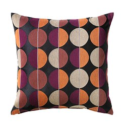 OTTIL cushion cover, black, multicolour