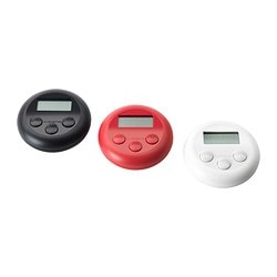STÄM timer, white/black, digital red Diameter: 8 cm Height: 2 cm