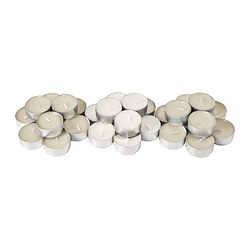SINNLIG scented tealight, natural, Vanilla pleasure Diameter: 38 mm Burning time: 4 hr Package quantity: 30 pack