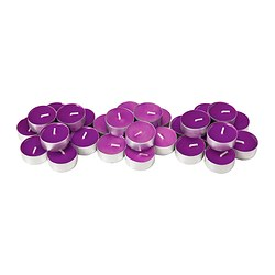 SINNLIG scented tealight, lilac, Full blossom Diameter: 38 mm Burning time: 4 hr Package quantity: 30 pack