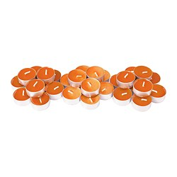 SINNLIG scented tealight, orange, Tangerine sunshine Diameter: 38 mm Burning time: 4 hr Package quantity: 30 pack