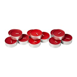 SINNLIG scented candle in metal cup, Sweet berries red Diameter: 59 mm Burning time: 9 hr Package quantity: 12 pack