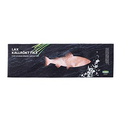 LAX KALLRÖKT FILÉ cold smoked salmon loin, frozen Net weight: 1000 g