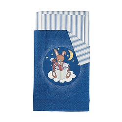 SOVDAGS 3-piece bedlinen set for cot, blue Quilt cover length: 125 cm Quilt cover width: 110 cm Pillowcase length: 35 cm