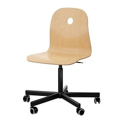 "VÅGSBERG /  SPORREN swivel chair, birch veneer, black Tested for: 243 lb Width: 29 1/8 "" Depth: 29 1/8 "" Tested for: 110 kg Width: 74 cm Depth: 74 cm"