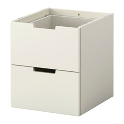 NORDLI modular chest of 2 drawers, white Width: 40 cm Depth: 43 cm Height: 45 cm