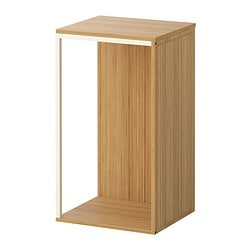 IKEA PS 2014 storage combination with top, white, bamboo Width: 35 cm Depth: 30 cm Height: 60 cm