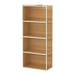 IKEA PS 2014 storage combination with top, bamboo, white Width: 60 cm Depth: 30 cm Height: 140 cm