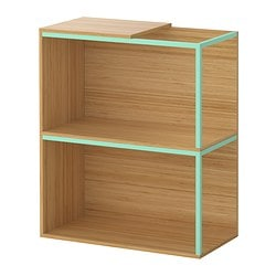 IKEA PS 2014 storage combination with top, light green, bamboo Width: 60 cm Depth: 30 cm Height: 70 cm