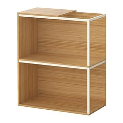 IKEA PS 2014 storage combination with top, bamboo, white Width: 60 cm Depth: 30 cm Height: 70 cm