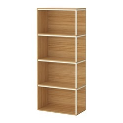 IKEA PS 2014 storage combination with tops, white, bamboo Width: 60 cm Depth: 30 cm Height: 140 cm