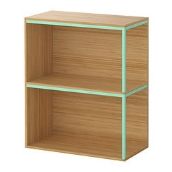 IKEA PS 2014 storage combination with tops, light green, bamboo Width: 60 cm Depth: 30 cm Height: 70 cm
