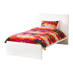 MALM, Bed frame, high, white, Luröy
