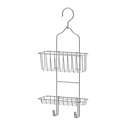 IMMELN shower hanger, two tiers, zinc plated Width: 24 cm Depth: 11 cm Height: 53 cm