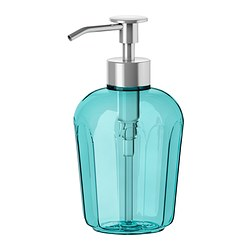 SVARTSJÖN soap dispenser, turquoise