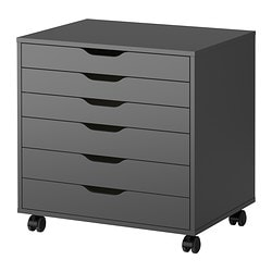 ALEX drawer unit on castors, grey