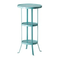 "GUNNERN pedestal table, blue turquoise Diameter: 15 "" Height: 29 3/8 "" Diameter: 38 cm Height: 74.7 cm"