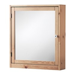 SILVERÅN, Mirror cabinet, light brown