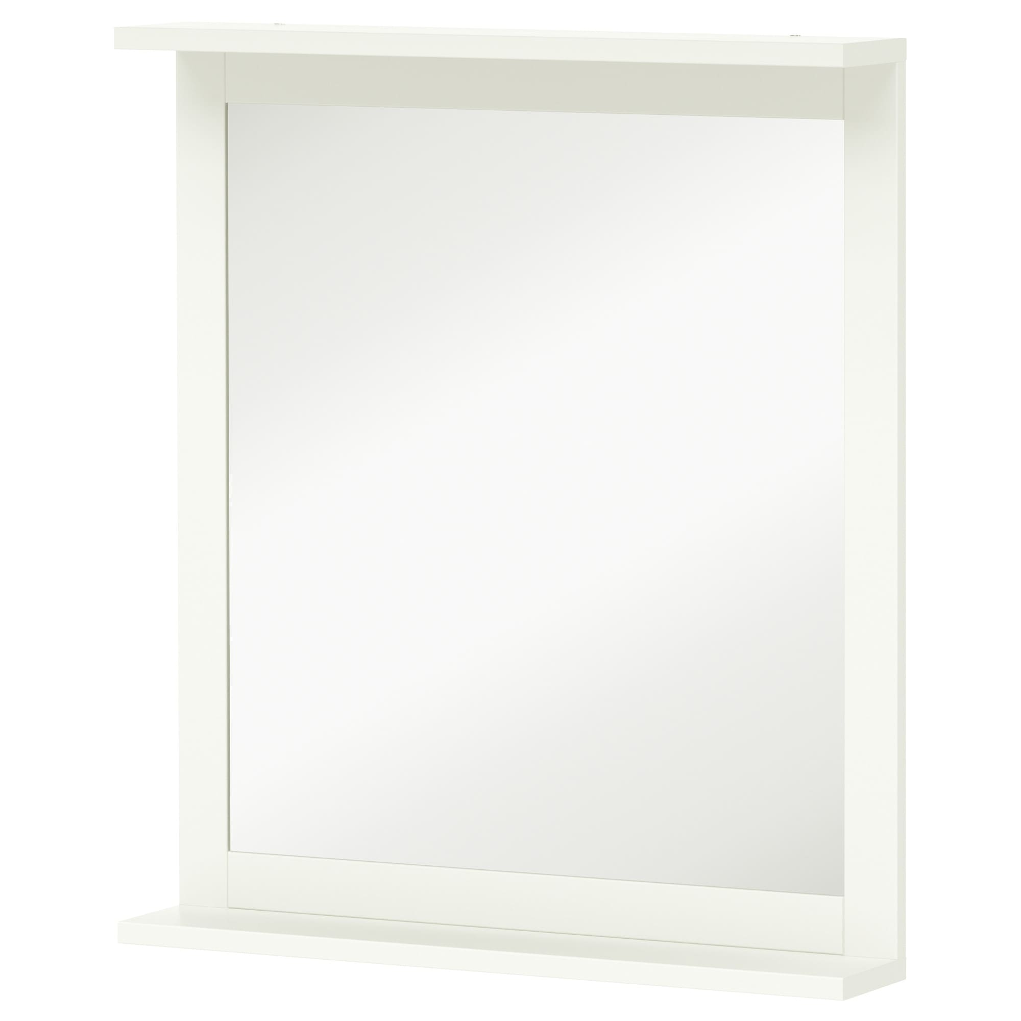 SILVERN Mirror With Shelf White Width 22 Height 25 1 8