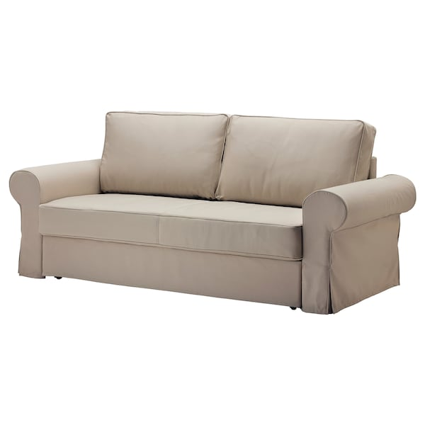 Backabro 3er Bettsofa Tygelsjö Beige Ikea