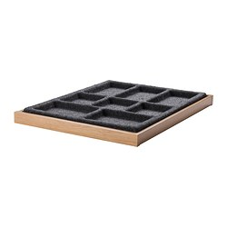 KOMPLEMENT pull-out tray with insert, grey, oak effect Width: 50 cm Depth: 58 cm