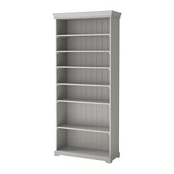 "LIATORP bookcase, gray Width: 37 3/4 "" Depth: 14 5/8 "" Height: 84 1/4 "" Width: 96 cm Depth: 37 cm Height: 214 cm"