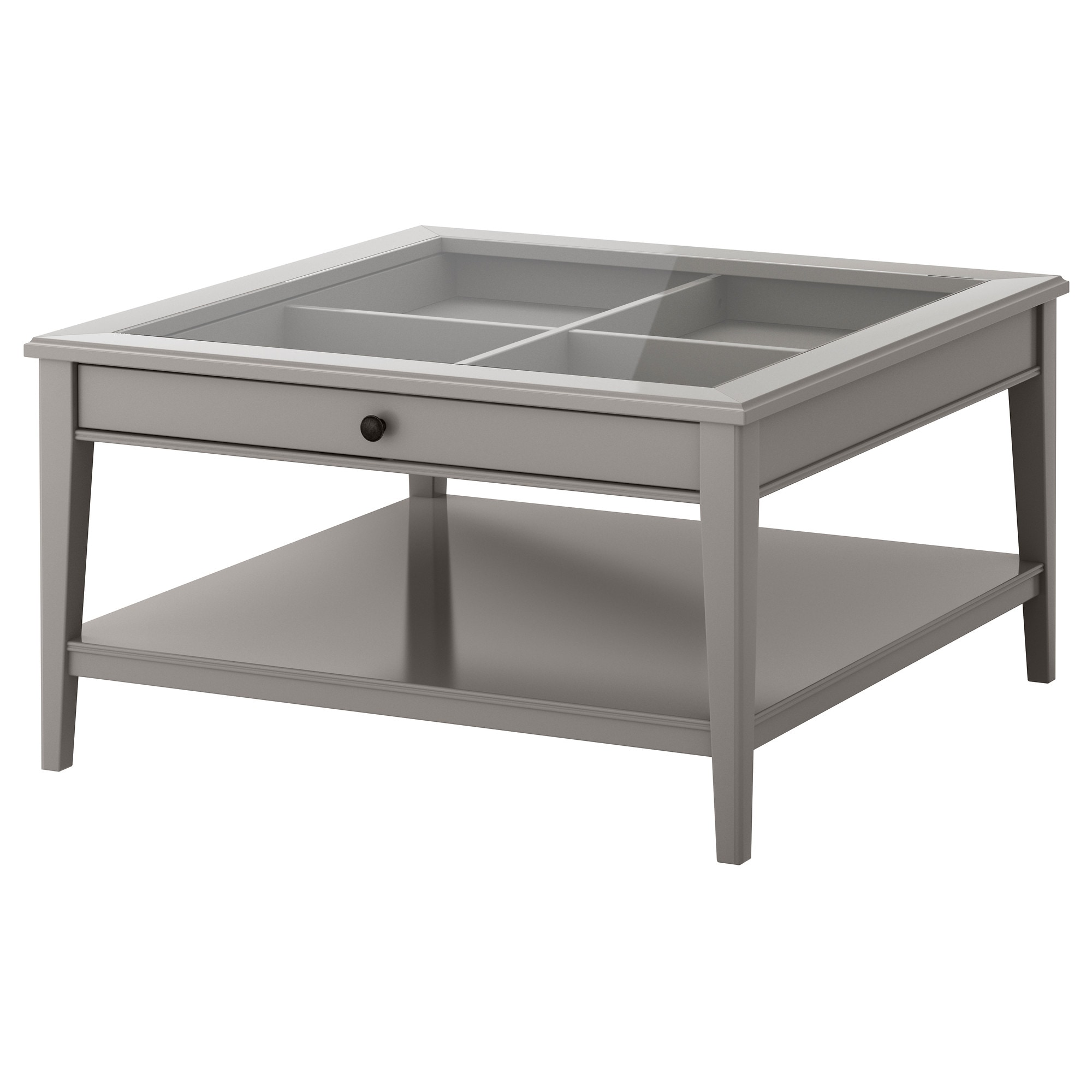 LIATORP Coffee table gray glass IKEA