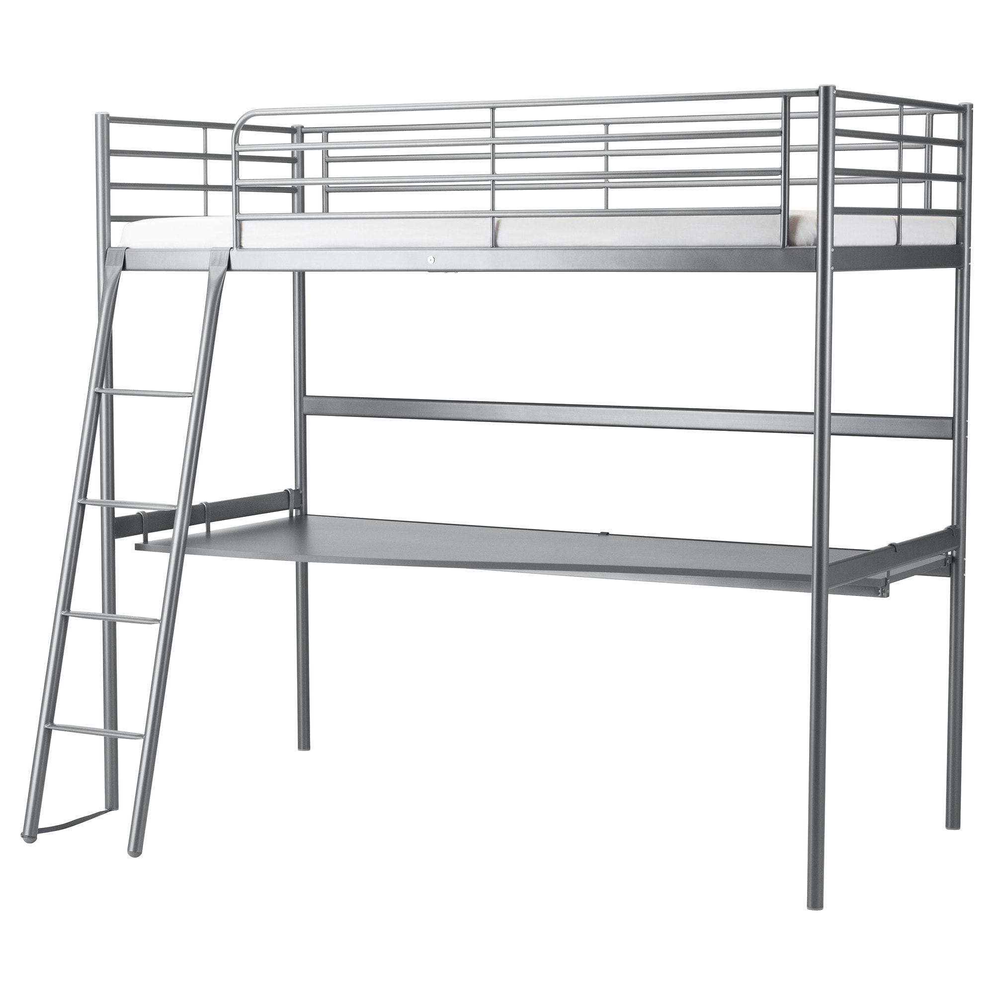 Svarta Loft Bed Frame With Desk Top Ikea