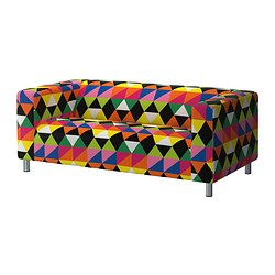 KLIPPAN loveseat cover, Randviken multicolor Number of seats: 2 pieces Number of seats: 2 pieces