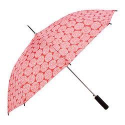 KNALLA umbrella, white, red Length: 80 cm Diameter: 105 cm