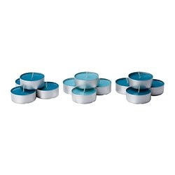 SINNLIG scented candle in metal cup, turquoise, Beach breeze Diameter: 59 mm Burning time: 9 hr Package quantity: 12 pack