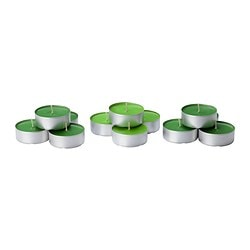 SINNLIG scented candle in metal cup, Crisp apple, green Diameter: 59 mm Burning time: 9 hr Package quantity: 12 pieces