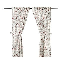 INGMARIE curtains with tie-backs, 1 pair, multicolor