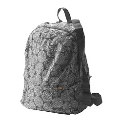 KNALLA backpack, white, grey Length: 35 cm Depth: 20 cm Height: 45 cm