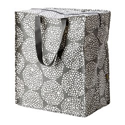 KNALLA bag, white, grey Length: 40 cm Depth: 25 cm Height: 47 cm