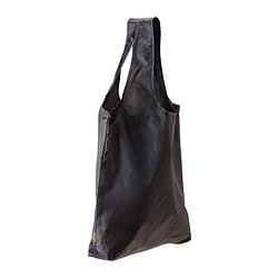 KNALLA carrier bag, black Length: 45 cm Depth: 10 cm Height: 45 cm