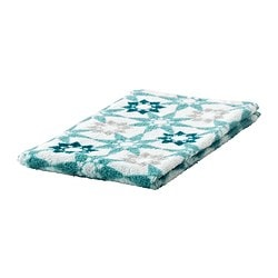 INGEBORG guest towel, turquoise, white Length: 50 cm Width: 30 cm Area: 0.15 m²