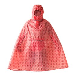"KNALLA rain poncho, white, red Width: 59 "" Height: 43 1/4 "" Width: 150 cm Height: 110 cm"