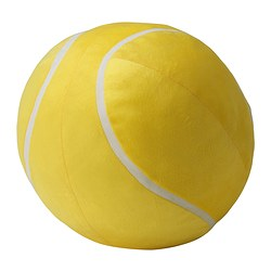 BOLLTOKIG soft toy, yellow Diameter: 27 cm