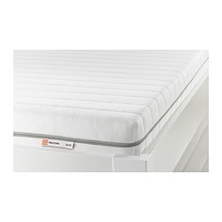 MALFORS foam mattress, white, medium firm Length: 189 cm Width: 92 cm Thickness: 12 cm