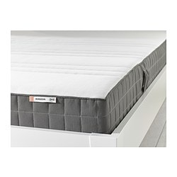 MORGEDAL foam mattress, dark grey, firm Length: 200 cm Width: 120 cm Thickness: 18 cm