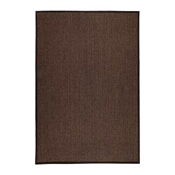 "OSTED rug, flatwoven, brown Length: 6 ' 5 "" Width: 4 ' 4 "" Area: 27.88 sq feet Length: 195 cm Width: 133 cm Area: 2.59 m²"