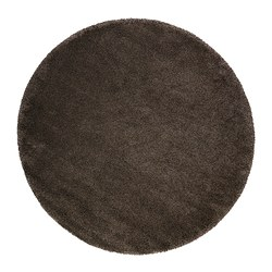 ÅDUM rug, high pile, light brown Diameter: 195 cm Area: 2.99 m² Surface density: 3300 g/m²