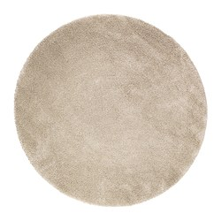 ÅDUM rug, high pile, off-white Diameter: 195 cm Area: 2.99 m² Surface density: 3300 g/m²