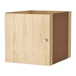 KALLAX insert with door, birch effect birch effect Width: 33 cm Depth: 37 cm Height: 33 cm
