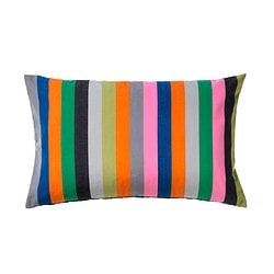 ÅKERGYLLEN cushion cover, multicolour, orange Length: 40 cm Width: 65 cm