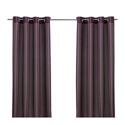PÄRLBUSKE Curtains, 1 pair Dhs 175.00