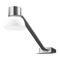 LINDSHULT, LED cabinet light, nickel plated