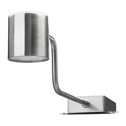 URSHULT LED cabinet lighting, nickel-plated